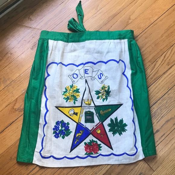 Vintage Order of the Eastern Star Apron